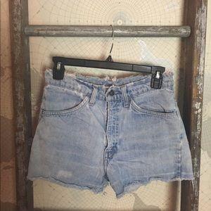 "Levi's orange tag distressed cut off shorts 29"""
